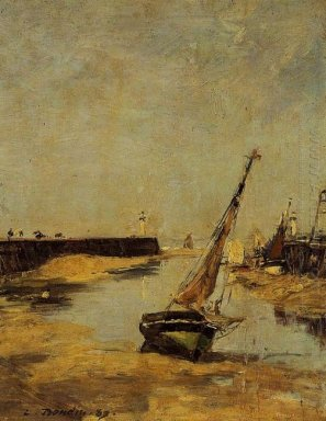 Trouville The Jettys Low Tide 1883