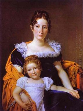 Portrait Of The Countess Vilain Xiiii And Her Daughter 1816