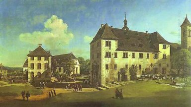 Courtyard Of The Castle At Königstein From The South 1756