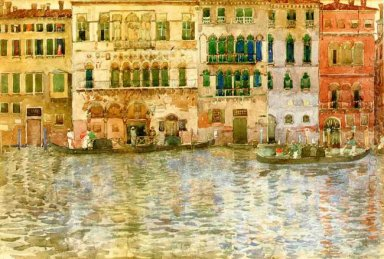 Venetian Palaces On The Grand Canal 1899