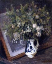 Flowers in a Delft Jug