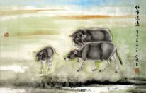 Cow-Long way to go - Chinese Painting
