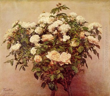 Rose Trees White Roses 1875