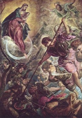 Battle Of The Archangel Michael And The Satan