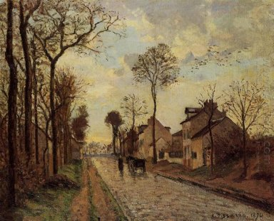 the louveciennes road 1870