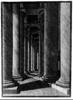 Nocturnal Rome Colonade Of St Peter S