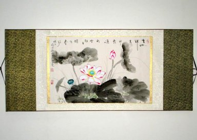 Lotus - Mounted - Chinese Painting