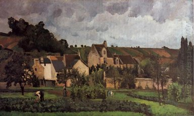 view of l hermitage at pontoise 1867