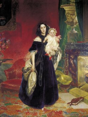 Portrait Of M A Beck And Her Daughter M I Beck
