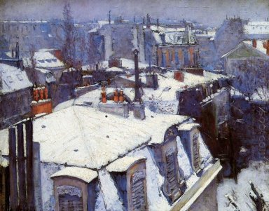 View Of Roofs Snow Effect Or Roofs Under Snow 1878