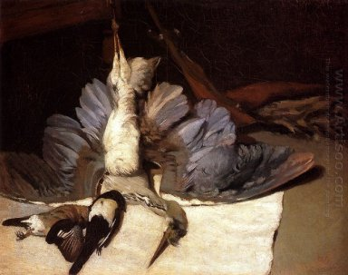 still life heron with spread wings 1867