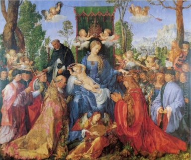 the lady of the festival du rosaire 1506