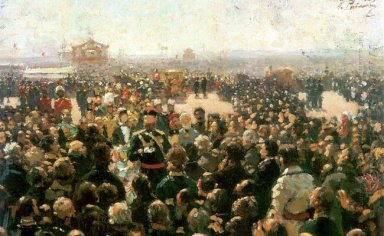Reception For Local Cossack Leaders By Alexander Iii In The Cour
