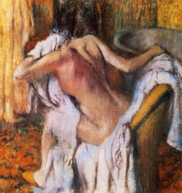 after the bath woman drying herself 1892