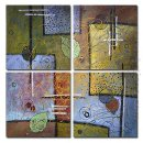 Hand-painted Oil Painting Abstract Oversized Square - Set of 4