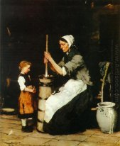 Churning Woman