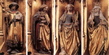 St Ursula Shrine Figures 1489