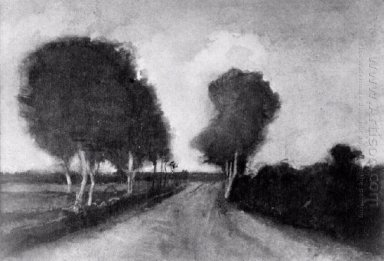 Country Lane With Trees 1882