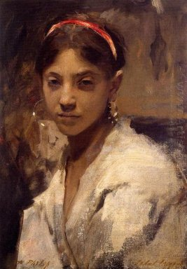 Head Of A Capri Girl 1878