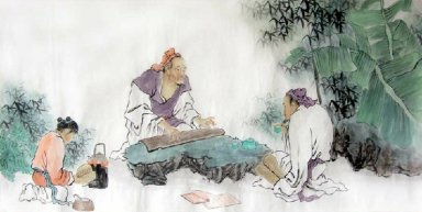 Playing the Qin-Chinese Painting