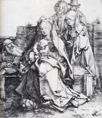 the holy family with st john the magdalen and nicodemus 1512
