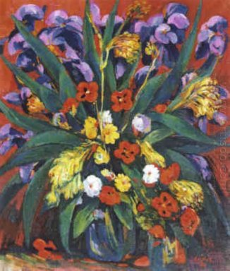Still Life With Irises And Poppies 1947