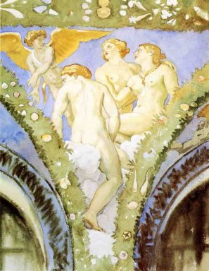 Three Nudes With Cupid