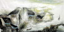Old Town - Chinese Painting