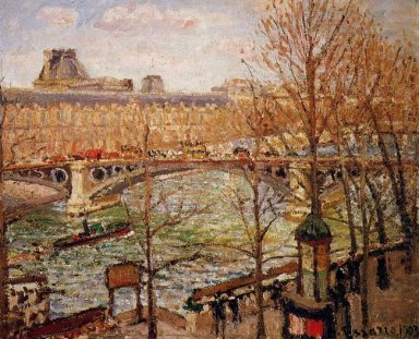the pont du carrousel afternoon 1903