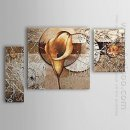 Hand-painted Oil Painting Floral Calla Lily - Set of 3 1302-FL00