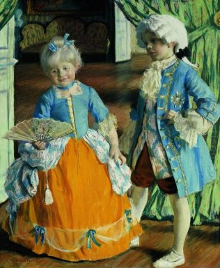 Children In The Costumes 1909