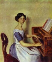 Portrait of Nadezhda P. Zhdanovich at the Piano