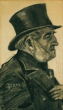 An Almshouse Man In A Top Hat 1882