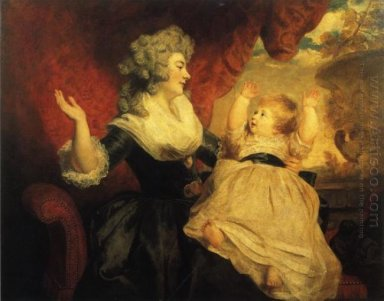 Georgiana Duchess Of Devonshire With Her Infant Daughter Lady Ge