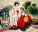 Lunch break girl - Chinese Painting