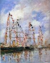 Sailing Ships At Deauville 1896