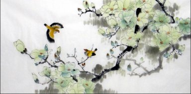 Magnolia-Birds - Chinese Painting