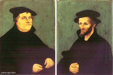 Portraits Of Martin Luther And Philipp Melanchthon 1543