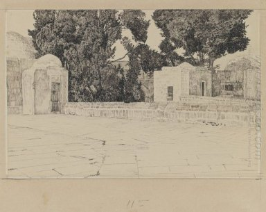 Rear Of The Mosque Of Omar 1889
