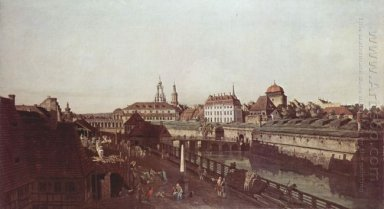 View Of Dresden The Dresden Fortifications Moat With A Bridge Be