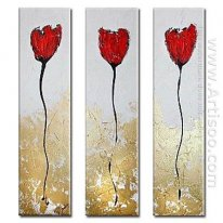 Hand-painted Oil Painting Abstract Oversized Tall - Set of 3