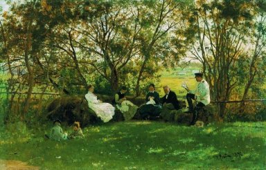 On A Turf Bench 1876