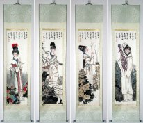 Four Ancient Beauties - Mounted - Chinese Painting