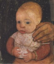 Infant with her ​​mother's hand