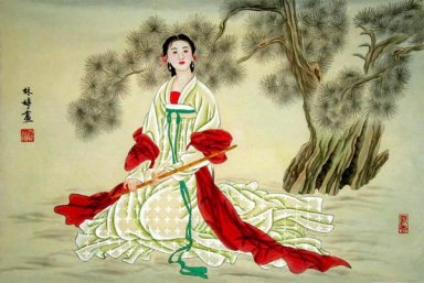Beautiful girl -Piaoliang - Chinese Painting