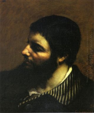 Self Portrait With Striped Collar 1854
