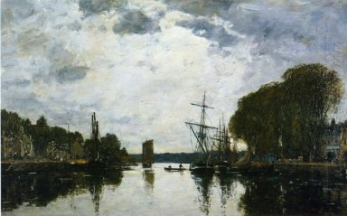 The Port Of Landerneau Finistere 1871