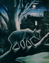 A Bear In A Moon Night 1914
