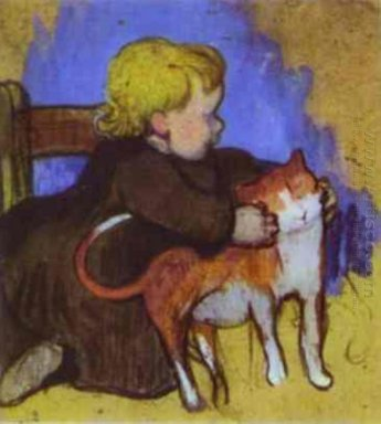 mimi and her cat 1890