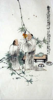 Two old men - Chinese Painting